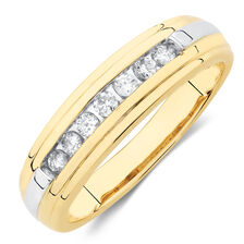 Men's Ring with Diamonds in 10ct Yellow Gold