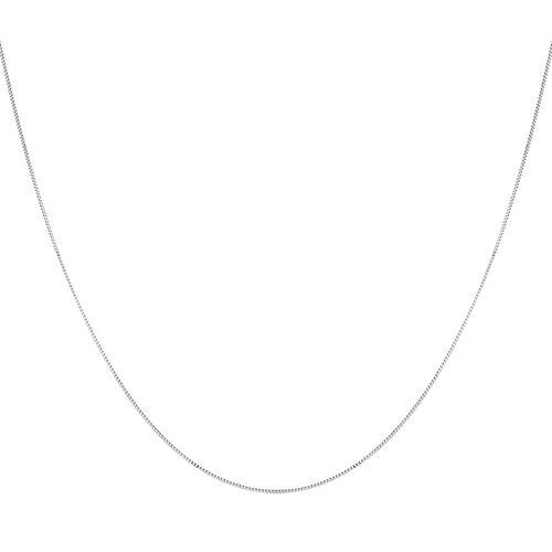 "60cm (20"") Box Chain in 10kt White Gold"