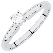Solitaire Engagement Ring with a 0.20 Carat Diamond in 14kt White Gold