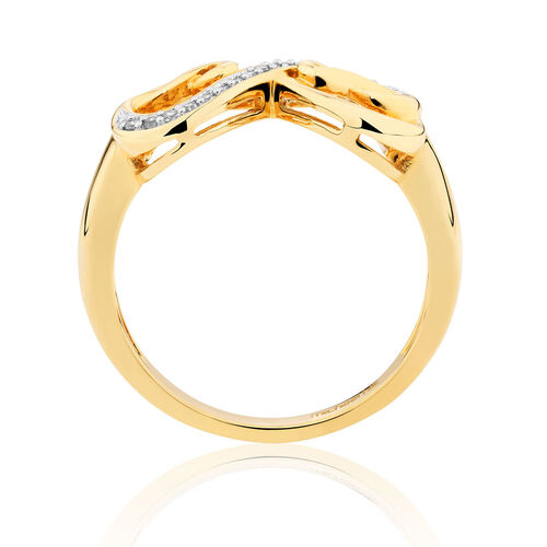 Infinitas Ring with Diamonds in 10ct Yellow Gold