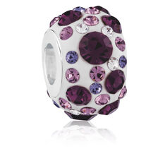 Purple Crystal Charm