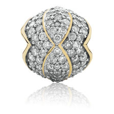 Charm with 1 Carat TW of Diamonds in 10ct Yellow Gold