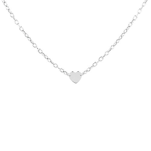 "45cm (18"") Heart Disc Necklace in Sterling Silver"
