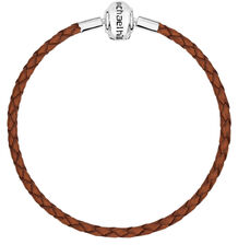 "Brown Leather 19cm (7.5"") Charm Bracelet"