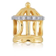 Diamond Set & 10ct Yellow Gold Birdcage Charm