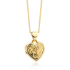 Heart Locket in 10kt Yellow Gold