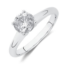 Solitaire Engagement Ring with a 1 Carat TW Diamond in 14kt White Gold