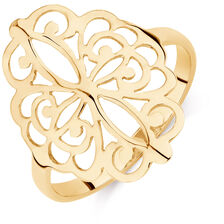 Filigree Ring in 10kt Yellow Gold