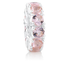 Blush Cubic Zirconia & Sterling Silver Spacer