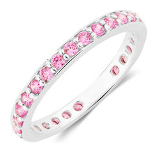 Pink Cubic Zirconia Pinky Ring