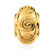 Online Exclusive - Swirl Charm in 10ct Yellow Gold