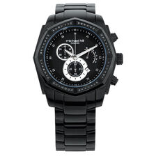 Men's Chronograph Watch with 1/2 Carat TW of Diamonds in Black Stainless Steel