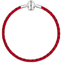 "Red Leather 19cm (7.5"") Charm Bracelet"