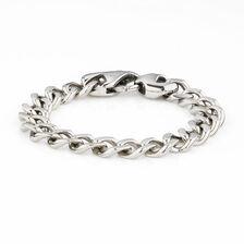 Men's Curb Bracelet in Stainless Steel