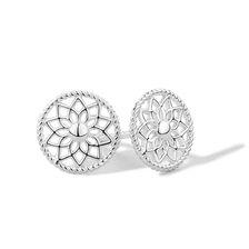 Dream Catcher Stud Earrings in Sterling Silver