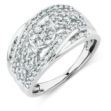 Ring with 1 Carat TW of Diamonds in 10kt White Gold