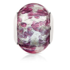 Dark Purple Murano Glass Charm