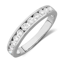Online Exclusive - Wedding Band with 5/8 TW of Diamonds in 14kt White Gold