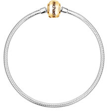 "10ct Yellow Gold & Sterling Silver 17cm (7"") Charm Bracelet"