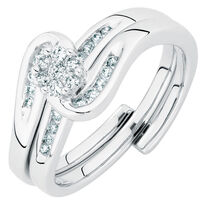 Bridal Set with 0.33 Carat TW of Diamonds in 10kt White Gold