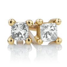 Stud Earrings with 1/10 Carat TW of Diamonds in 10kt Yellow Gold