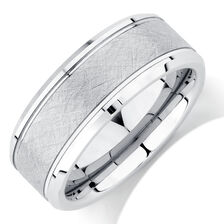 Online Exclusive - Men's Ring in White Tungsten