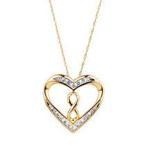 Infinitas Pendant with 1/3 Carat TW of Diamonds in 10ct Yellow Gold