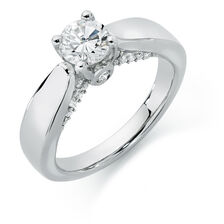 Engagement Ring 1 Carat TW of Diamonds in 14kt White Gold