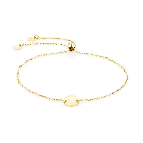 Adjustable Circle Bracelet in 10kt Yellow Gold