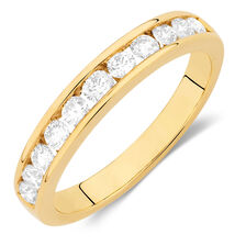 Wedding Band with 5/8 TW of Diamonds in 14kt Yellow Gold