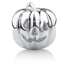 Jack-O-Lantern Charm in Sterling Silver