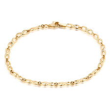 "19cm (7.5"") Infinity Bracelet in 10ct Yellow Gold"