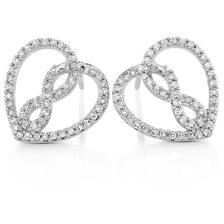 Infinitas Stud Earrings with 1/3 Carat TW of Diamonds in 10ct White Gold