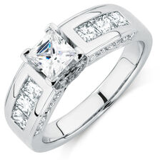 Engagement Ring with 2 1/4 Carat TW of Diamonds in 14ct White Gold