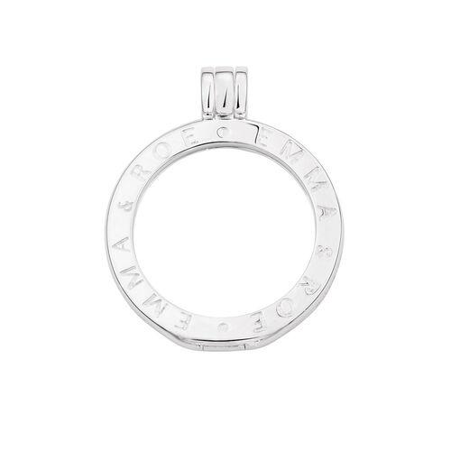 Sterling Silver 'Emma & Roe' Engraved Coin Pendant Frame