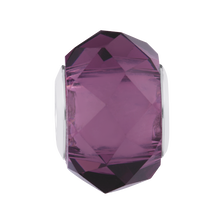 Purple Crystal Faceted Charm