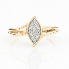 ONLINE EXCLUSIVE - Promise Ring with Diamonds in 10kt Yellow & White Gold