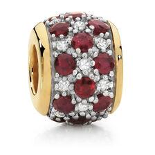 Ruby & Diamond Set Charm