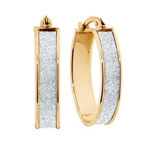 Stardust Hoop Earrings in 10ct Yellow Gold