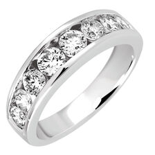 Wedding Band with 1.30 Carat TW of Diamonds in 14kt White Gold