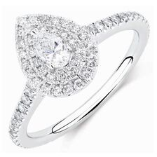 Michael Hill Designer GrandArpeggio Engagement Ring with 0.87 Carat TW of Diamonds in 14ct White Gold