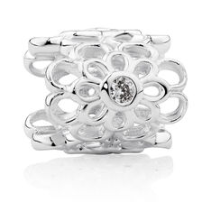 Cubic Zirconia & Sterling Silver Wild Hearts Mini Sleeve