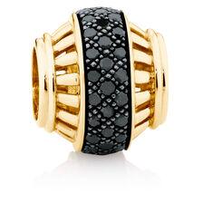 0.28 Carat TW Enhanced Black Diamond Marrakesh Charm