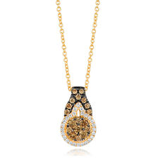 Le Vian Pendant with 1/2 Carat TW of Chocolate & Vanilla Diamonds in 14kt Yellow Gold