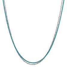 """45cm (18"""") Aqua & Sterling Silver Chain"""