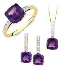 Amethyst & Diamond Set