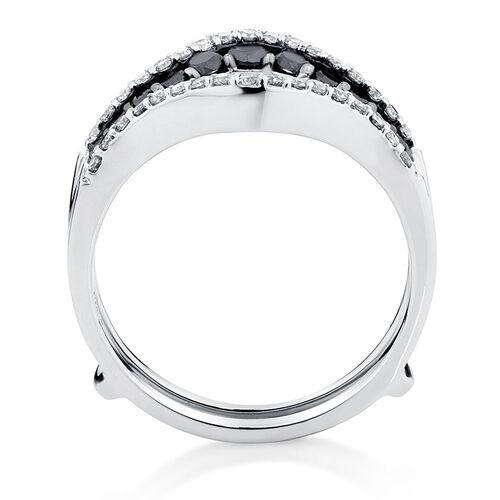 Enhancer Ring with 1 Carat TW of White & Enhanced Black Diamonds in 14kt White Gold