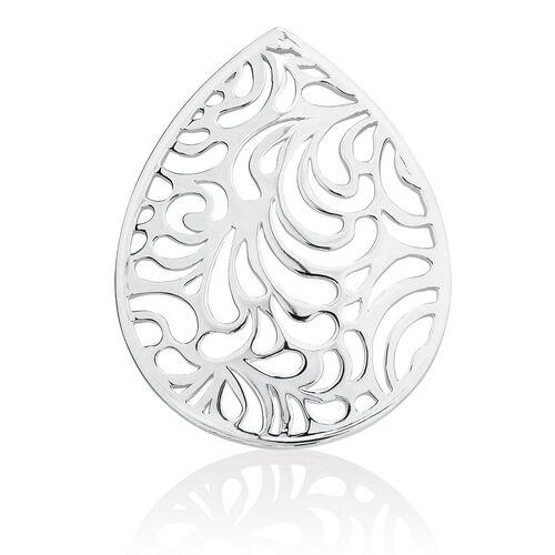 Filigree Coin Pendant Insert in Sterling Silver