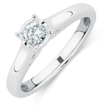 Solitaire Engagement Ring with a 1/4 Carat Diamond in 10kt White Gold