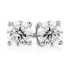 Stud Earrings with 3/4 Carat TW of Diamonds in 14ct White Gold